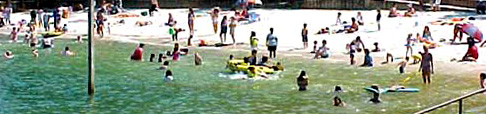 Lake Lanier Beach, with water (and swimmers)