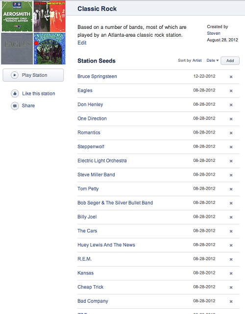 Pandora Radio Station definition