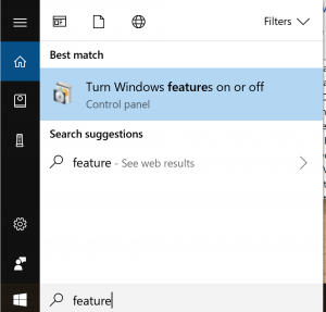Cortana Search Box